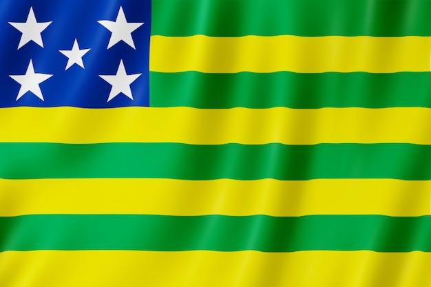 Bandeira do estado de goiás no brasil Foto Premium