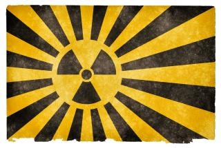 Bandeira do grunge explosão nuclear Foto gratuita