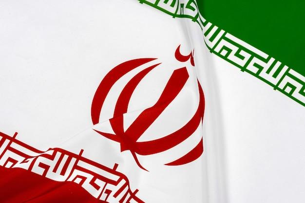 Bandeira do irã em branco Foto Premium