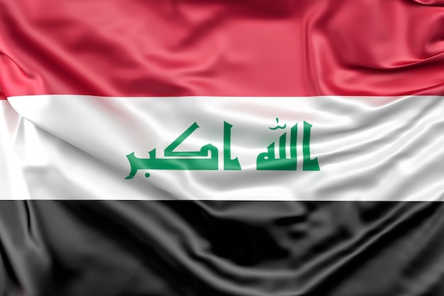 Bandeira do iraque Foto gratuita
