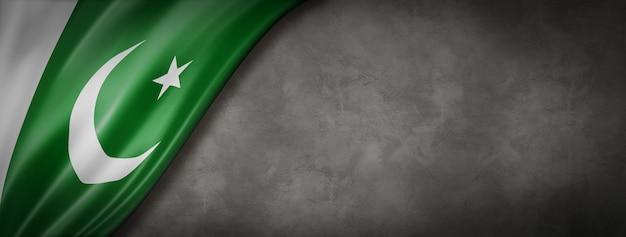 Bandeira do paquistão na parede de concreto Foto Premium