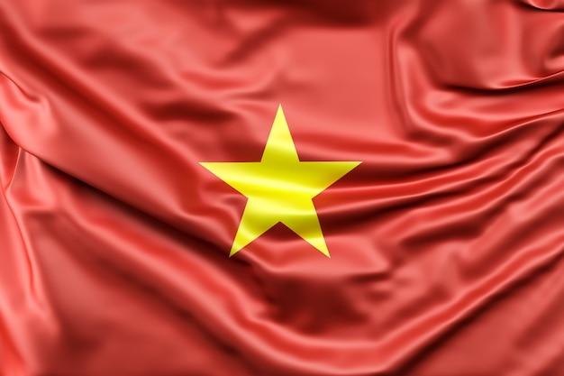 Bandeira do vietnã Foto gratuita