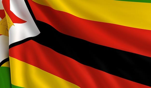 Bandeira do zimbábue Foto Premium
