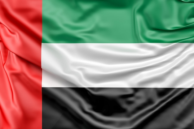 Bandeira dos emirados árabes unidos Foto gratuita