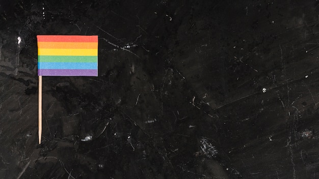 Bandeira lgbt brilhante multicolorida Foto gratuita