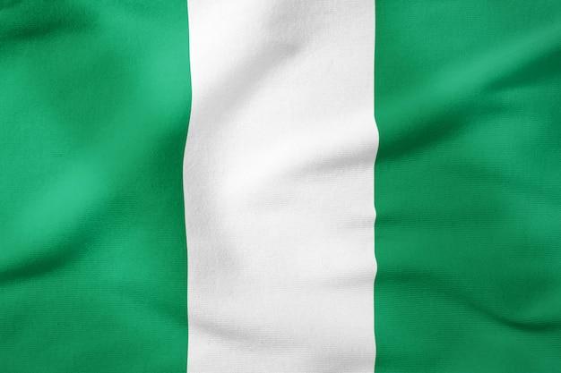 Bandeira nacional da nigéria - símbolo patriótico de forma retangular Foto Premium