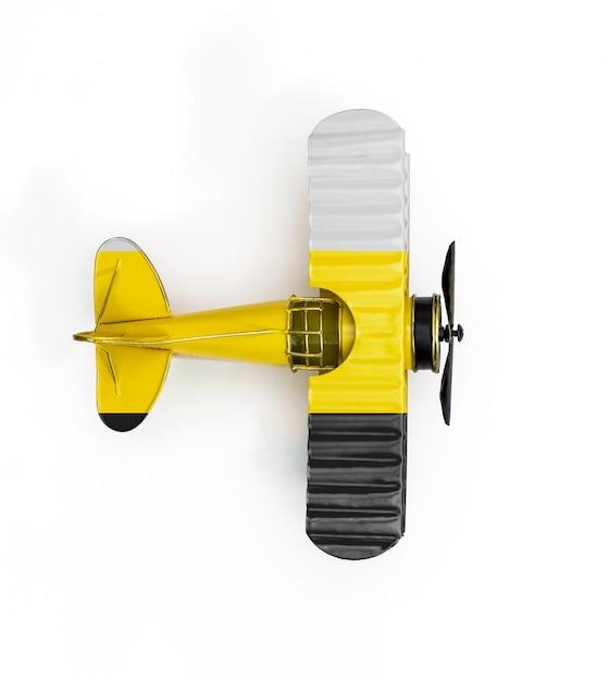 Bandeira nacional de avião de brinquedo perak metal isolado no branco Foto Premium