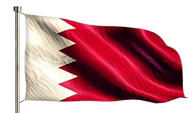 Bandeira nacional de bahrein isolado fundo branco 3d Foto gratuita