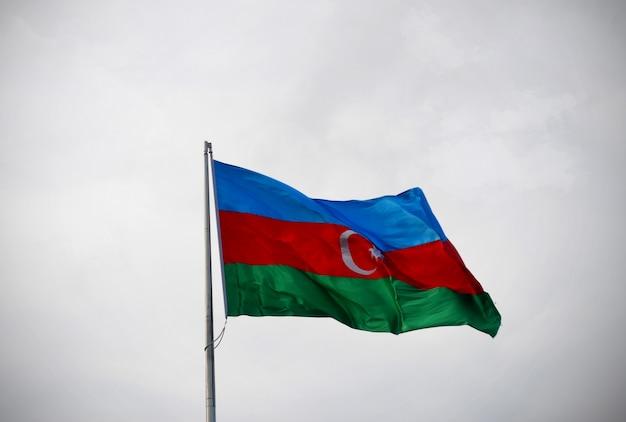Bandeira nacional do azerbaijão Foto Premium