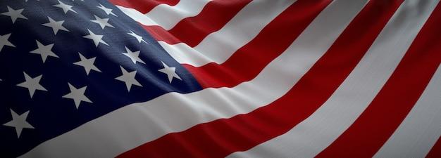Bandeira oficial americana. Foto Premium