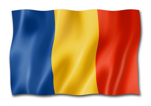 Bandeira romena isolada Foto Premium
