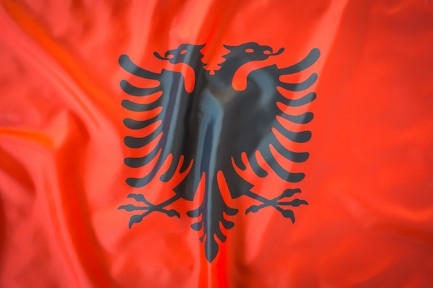 Bandeiras da albânia. Foto gratuita