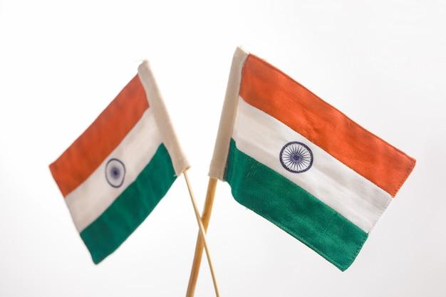 Bandeiras indianas Foto Premium