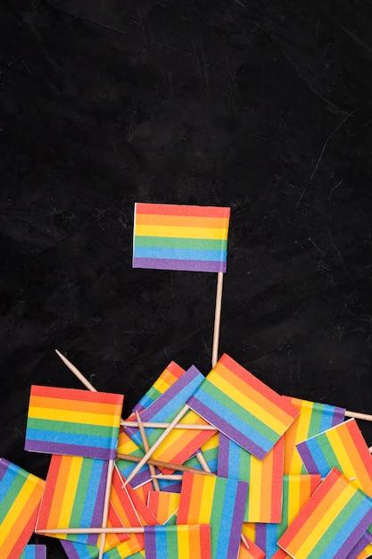 Bandeiras lgbt do arco-íris Foto gratuita