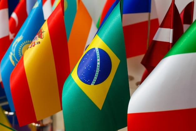 Bandeiras nacionais do mundo Foto Premium