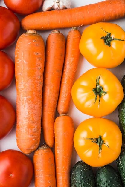 Bando de close-up de legumes maduros Foto gratuita