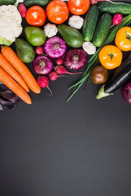 Bando de vegetais frescos Foto Premium