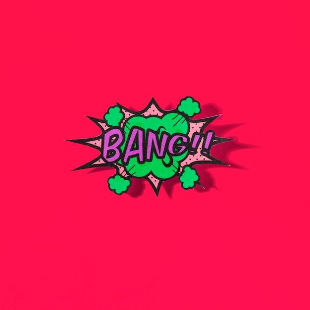 Bang texto em quadrinhos no estilo pop-art em fundo vermelho Foto gratuita