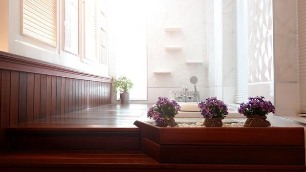 Banheiro de luxo Foto Premium