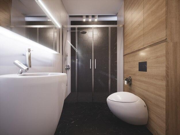 Banheiro moderno e elegante Foto Premium