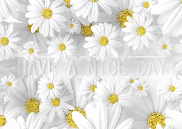 Banner criativo tem uma ideia de bom dia, minimalista moderna, renderização em 3d Foto Premium