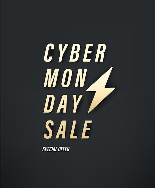 Banner de vetor de oferta especial de venda de cyber segunda-feira Foto Premium