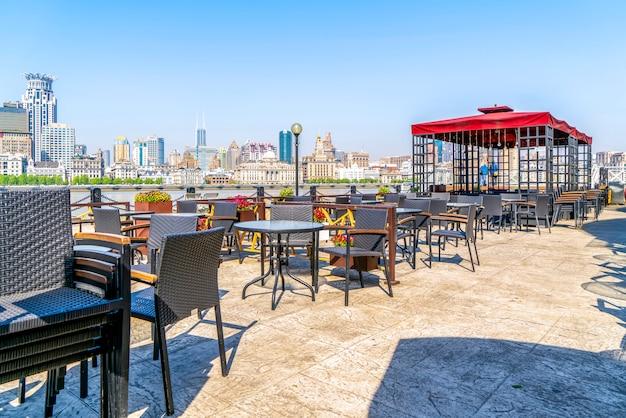 Bar ao ar livre shanghai lujiazui Foto Premium