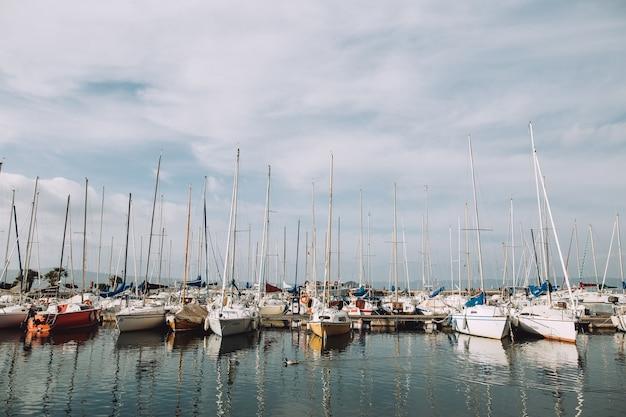 Barcos na itália Foto Premium
