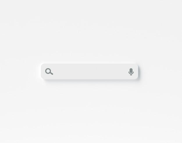 Barra de pesquisa em branco mínimo Foto Premium