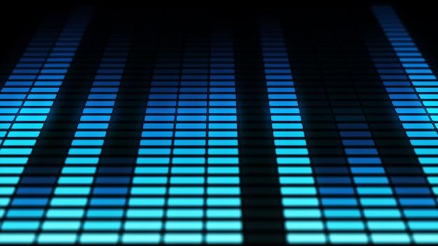 Barras do equalizador de áudio em movimento. níveis de controle de música. azul. mais opções de cores no meu portfólio. Foto Premium