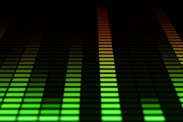 Barras do equalizador de áudio em movimento Foto Premium