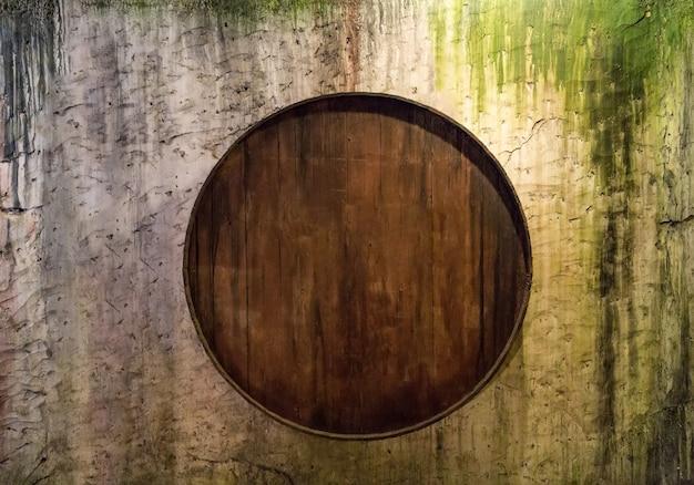 Barris na parede do grunge, com rum escrito Foto Premium