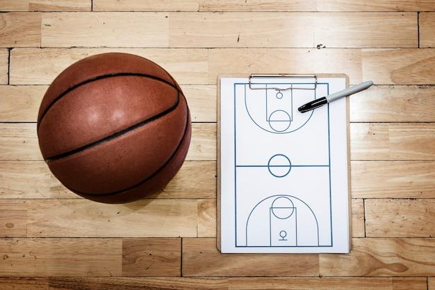 Basquete playbook game plan esporte estratégia conceitos Foto gratuita