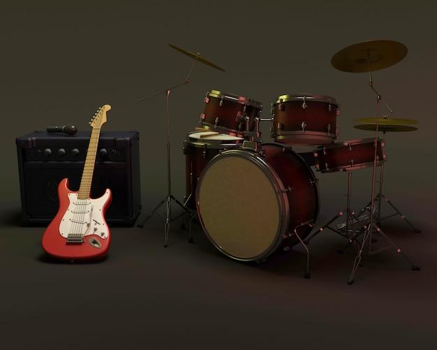 Bateria e guitarra Foto gratuita