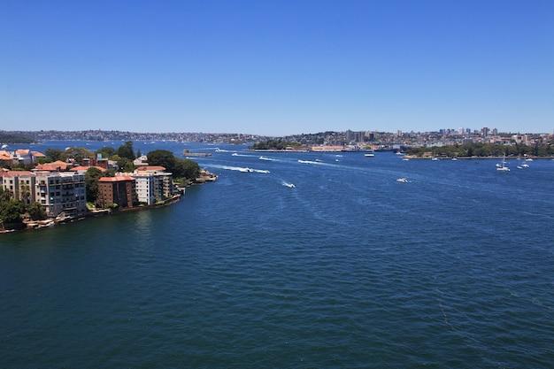 Bay harbor, no coração de sydney, austrália Foto Premium