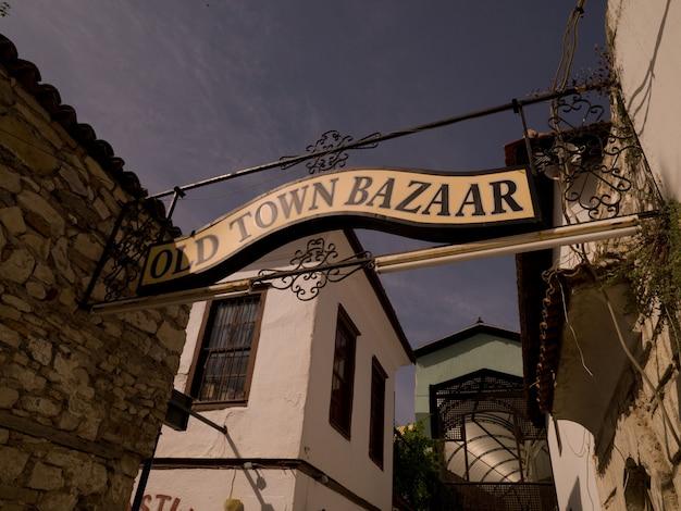 Bazar da cidade velha cadastre-se em kusadasi turquia Foto Premium