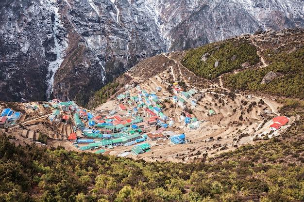 Bazar namche, nepal Foto Premium