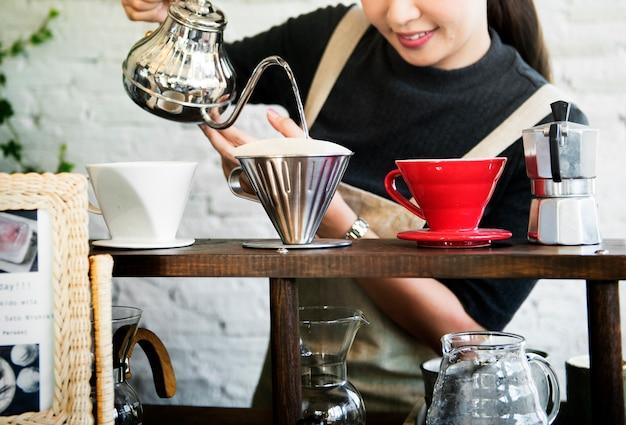 Bebida barista café cafeína bebida relaxamento Foto Premium