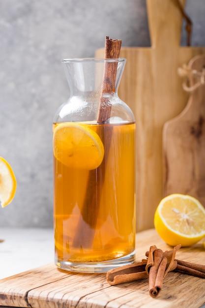Bebida fermentada de sidra Foto Premium