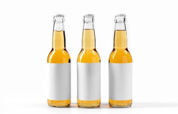 Bebidas alcoólicas de vista frontal com rótulos em branco Foto Premium