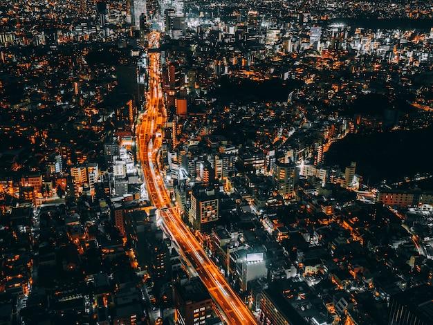 Bela arquitetura e construção da paisagem urbana de tóquio Foto gratuita