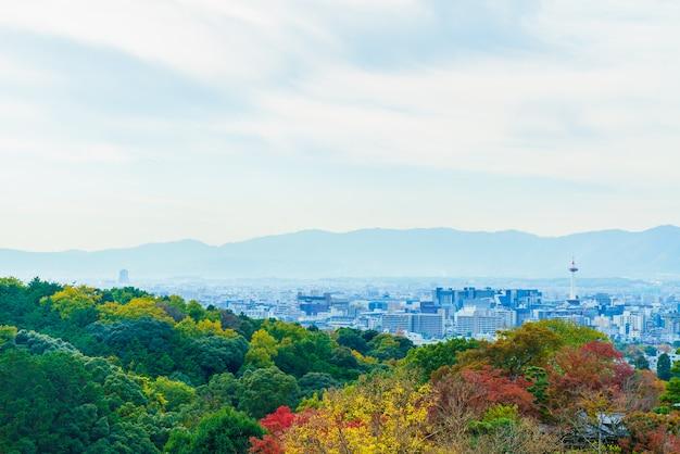 Bela arquitetura no templo de kiyomizu em kyoto no japão Foto gratuita