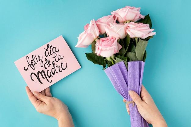 Bela coleção plana para o dia das mães Foto gratuita