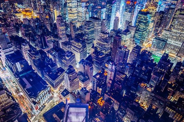 Bela foto aérea futurista da cidade de nova york Foto gratuita