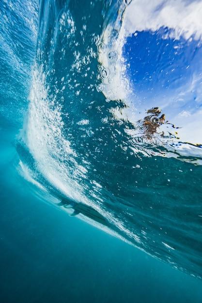 Bela foto da onda do mar - perfeita para o fundo Foto gratuita