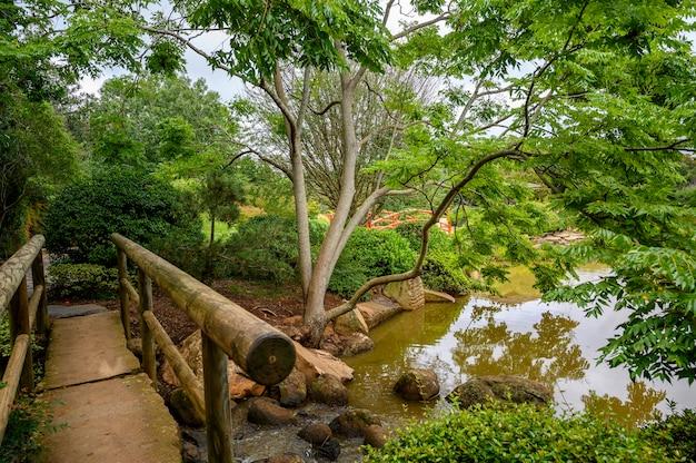 Bela foto de um parque público em toowoomba, queensland, austrália Foto gratuita