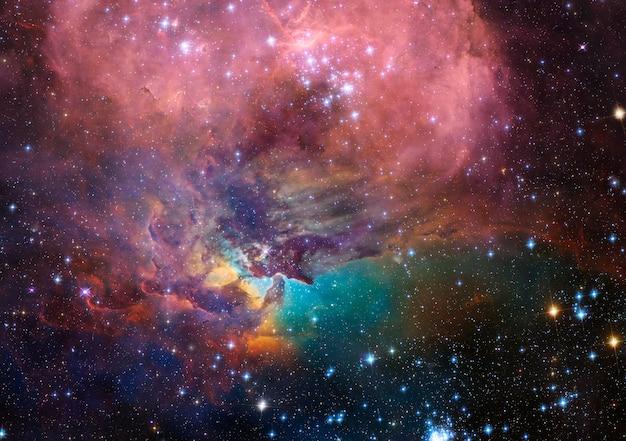 Bela galáxia no espaço, fundo de ficção científica Foto Premium