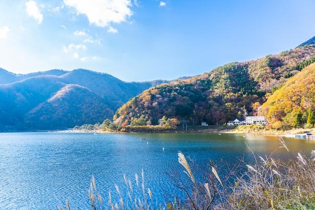 Bela paisagem ao redor do lago kawaguchiko Foto gratuita
