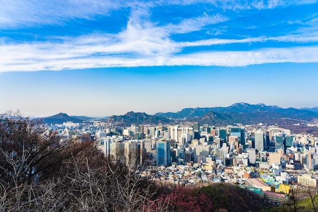 Bela paisagem e paisagem urbana da cidade de seul Foto gratuita