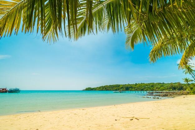 Bela praia tropical e mar Foto gratuita